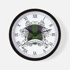 Abercrombie Tartan Shield Wall Clock