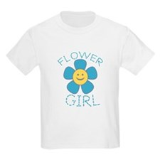 Smiley Flower Girl Kids T-Shirt