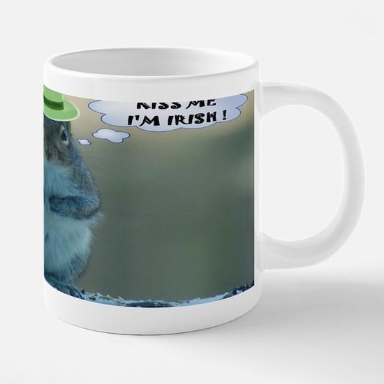 Irish Squirrel 20 oz Ceramic Mega Mug