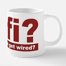 wifi when you can get wired 20 oz Ceramic Mega Mug
