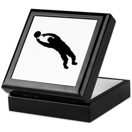 goal keeper Keepsake Box