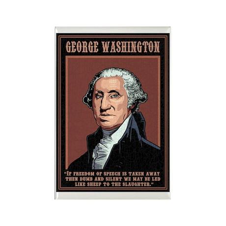 Washington -Free Speech Rectangle Magnet