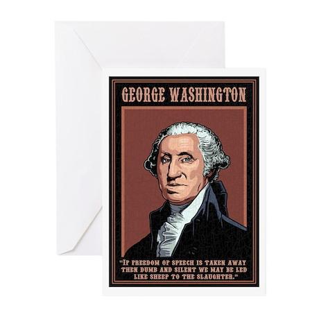 Washington -Free Speech Greeting Cards (Pk of 10)