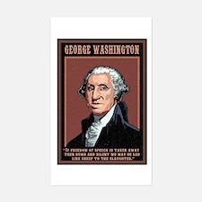 Washington -Free Speech Rectangle Decal