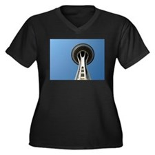 Seattle Space Needle - Women's Plus Size V-Neck Da