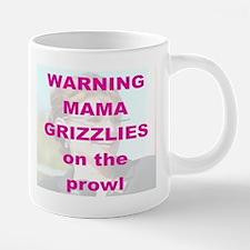 2-WARNING MAMA GRIZZLIES ON 20 oz Ceramic Mega Mug