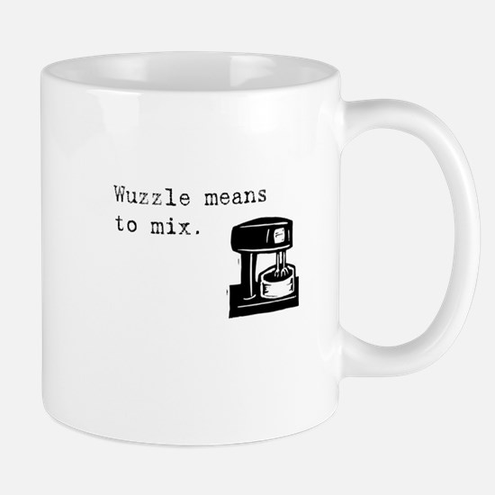 Wuzzle Means to Mix Mug