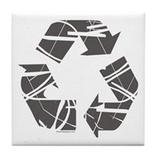 Recycle Sign Tile Coaster
