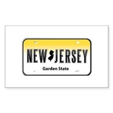 New Jersey Rectangle Decal