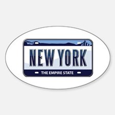 New York Plate Oval Decal