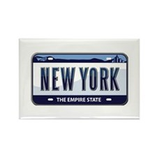 New York Plate Rectangle Magnet