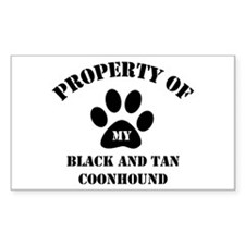 My Black and Tan Coonhound Rectangle Decal