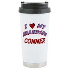 I Love My Grandson Conner Travel Mug