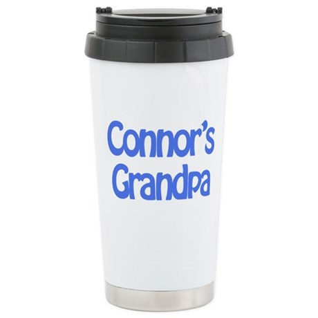 Connor's Grandpa Stainless Steel Travel Mug