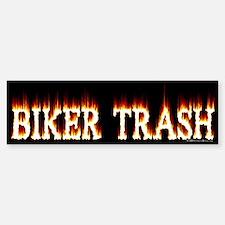 Biker Trash Bumper Bumper Bumper Sticker