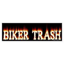 Biker Trash Bumper Car Sticker