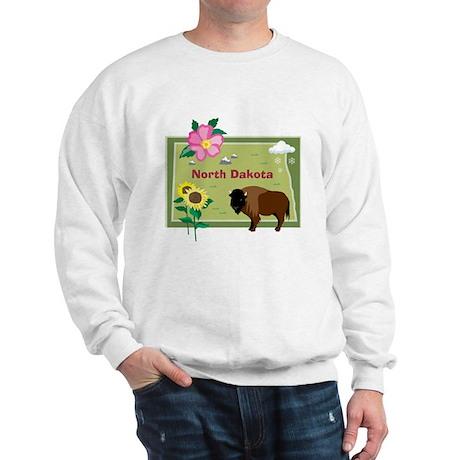 North Dakota Map Sweatshirt