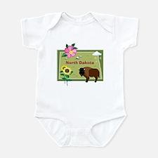 North Dakota Map Infant Bodysuit