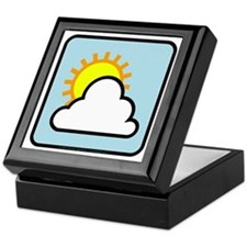 Partly Cloudy Keepsake Box