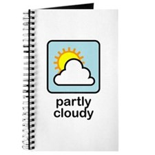Partly Cloudy (w/text) Journal
