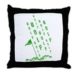 Golf, On the Green Throw Pillow