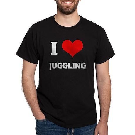 I Love Juggling Black T-Shirt