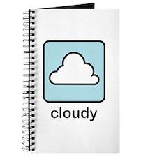 Cloudy (w/text) Journal