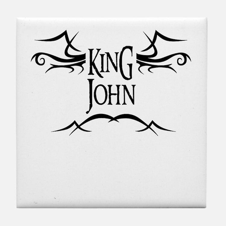 King John Tile Coaster