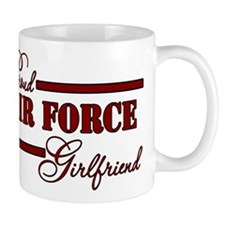 Proud Air Force Girlfriend (Red N Black) Mug