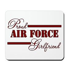 Proud Air Force Girlfriend (Red N Black) Mousepad