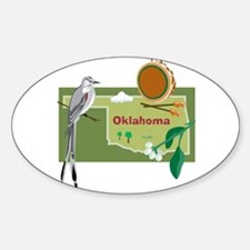 Oklahoma Map Oval Decal