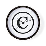 Copyright Symbol Wall Clock