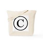 Copyright Symbol Tote Bag