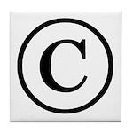 Copyright Symbol Tile Coaster