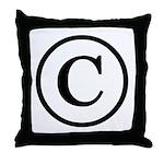 Copyright Symbol Throw Pillow