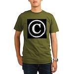 Copyright Symbol Organic Men's T-Shirt (dark)
