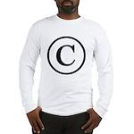 Copyright Symbol Long Sleeve T-Shirt
