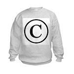 Copyright Symbol Kids Sweatshirt