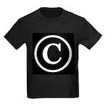 Copyright Symbol Kids Dark T-Shirt
