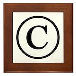 Copyright Symbol Framed Tile