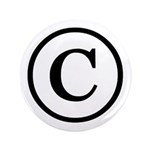 "Copyright Symbol 3.5"" Button (100 pack)"