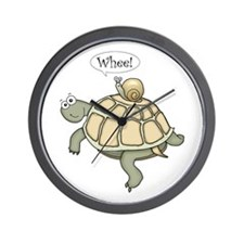 """Turtle and Snail """"Whee!"""" Wall Clock"""