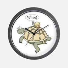 "Turtle and Snail ""Whee!"" Wall Clock"