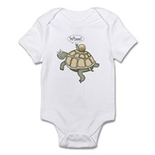 """Turtle and Snail """"Whee!"""" Infant Bodysuit"""