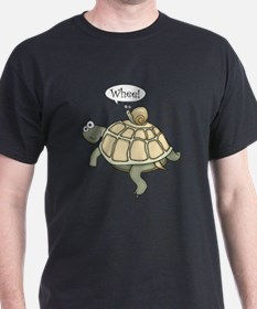 """Turtle and Snail """"Whee!"""" T-Shirt"""