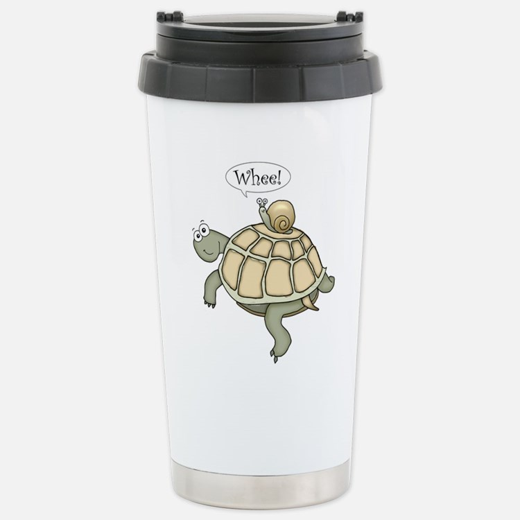 "Turtle and Snail ""Whee!"" Travel Mug"