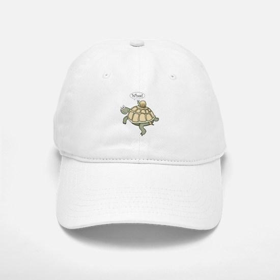 "Turtle and Snail ""Whee!"" Baseball Baseball Cap"