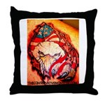 Raging Eagle Throw Pillow
