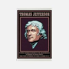 Jefferson -Liberty Rectangle Magnet