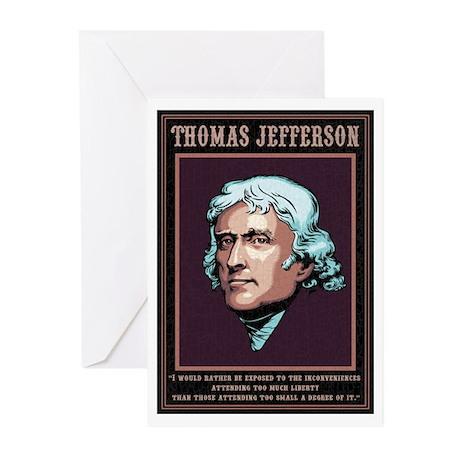 Jefferson -Liberty Greeting Cards (Pk of 10)